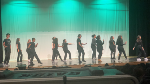 Drama/Theater Students performing on stage